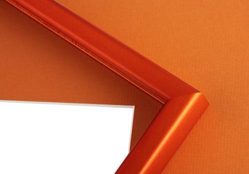Orange Frame and Mat Board