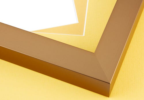 Yellow Mat Board and Gold Frame