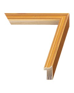 Brushed Gold Wood Picture Frame
