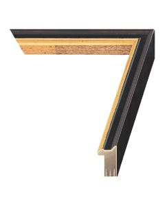 Black with Gold Wood Picture Frame