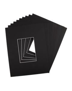 """Assorted Black Mat Board (11"""" x 14"""" with 4 1/2"""" x 6 1/2"""" Opening)"""