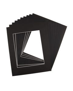 """Assorted Black Mat Board (11"""" x 14"""" with 7 1/2"""" x 9 1/2"""" Opening)"""