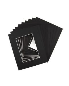"""Assorted Black Mat Board (8"""" x 10"""" with 4 1/2"""" x 6 1/2"""" Opening)"""