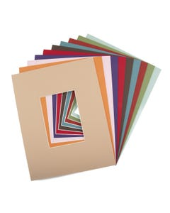 """Assorted Color Mat Board (11"""" x 14"""" with 4 1/2"""" x 6 1/2"""" Opening)"""