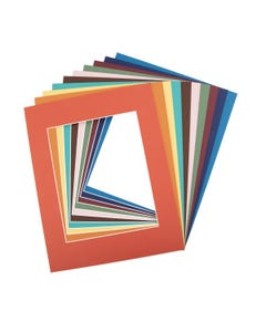 """Assorted Color Mat Board (11"""" x 14"""" with 7 1/2"""" x 9 1/2"""" Opening)"""