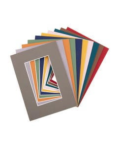 """Assorted Color Mat Board (5"""" x 7"""" with 2 1/2"""" x 4 1/2"""" Opening)"""