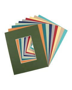 """Assorted Color Mat Board  (8"""" x 10"""" with 3 1/2"""" x 5 1/2"""" Opening)"""