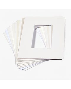 """Assorted White Mat Board (11"""" x 14"""" with 7 1/2"""" x 9 1/2"""" Opening)"""