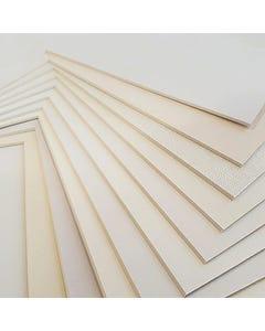 Alphamat White Mat Board Corner Sample Set