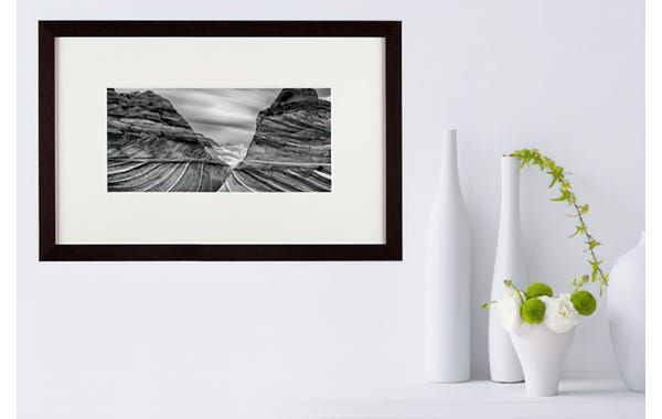 Matte Black Wood Picture Frame (JustAddArt™ Collection)