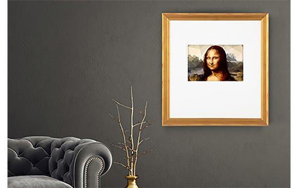 Brushed Gold Picture Frame (JustAddArt™ Collection)