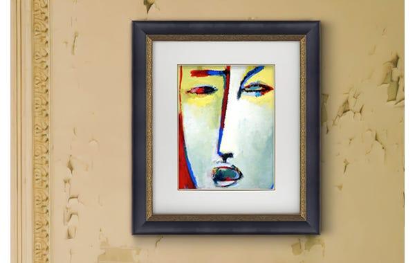 Black with Gold Leaf Wood Picture Frame (JustAddArt™ Collection)