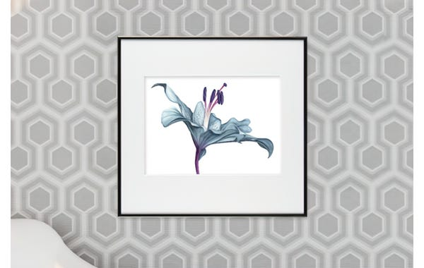 Contrast Grey Metal Picture Frame (JustAddArt™ Collection)