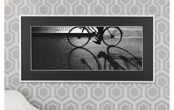 Bright White Metal Picture Frame (JustAddArt™ Collection)